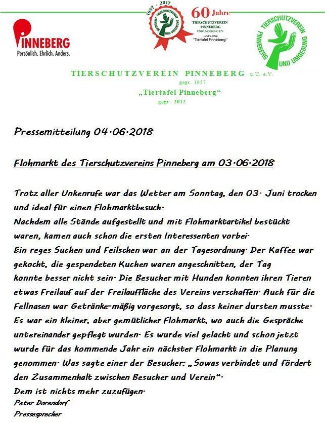 Pressebericht Flohmarkt 2018